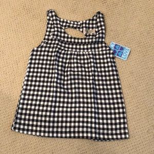 Lucy Love Gingham/checkered Print Open-back Top